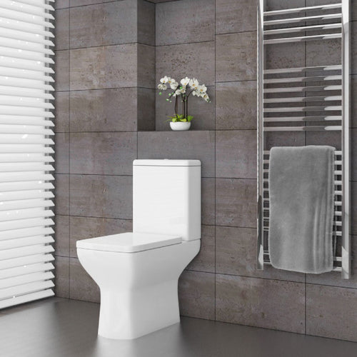 Portrush Comfort Height Fully Shrouded WC and Soft Close Seat