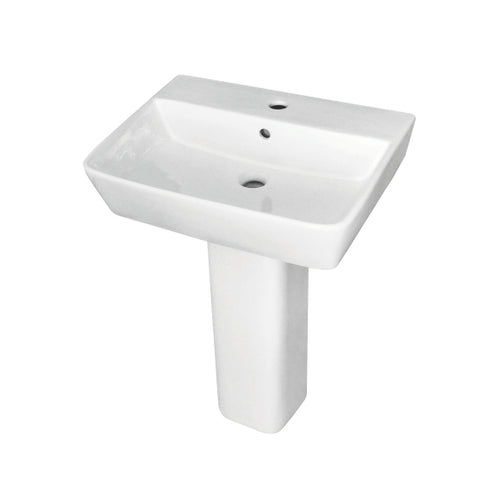 Portrush 550mm Washbasin with Full Pedestal