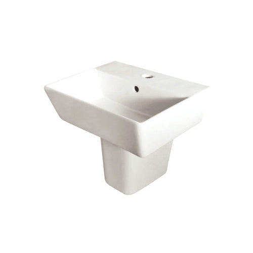 Portrush 550mm Washbasin with Semi Pedestal