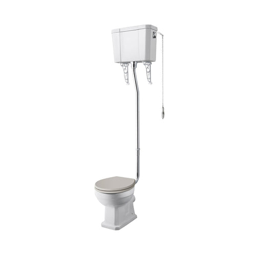 Roisin Comfort Height High Level WC and Flush Pipe Kit