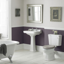 Load image into Gallery viewer, Roisin Traditional 560mm Washbasin & Pedestal 2 Tap Holes
