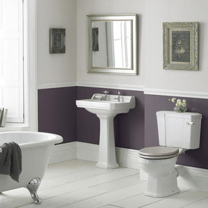 Roisin Traditional  560mm Washbasin & Pedestal 1 Tap Hole