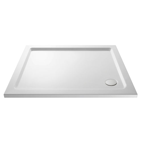 Rectangular Shower Tray with Corner Waste Outlet