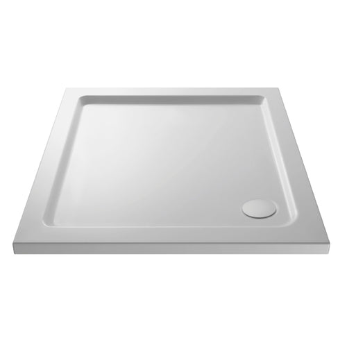 Square Shower Tray with Corner Waste Outlet