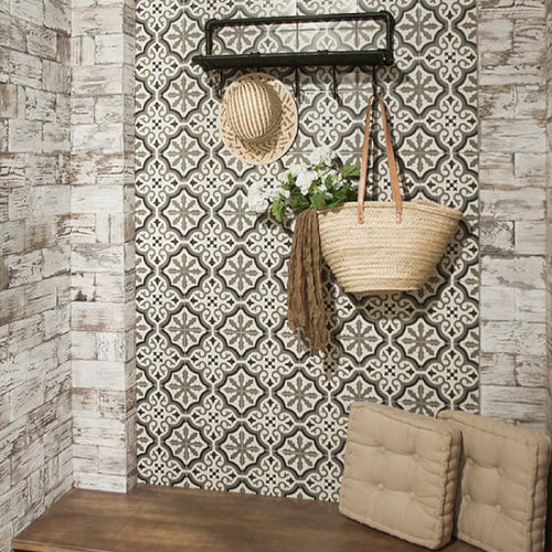 Lifestyle image of Victorian Florentine tiles used on a wall