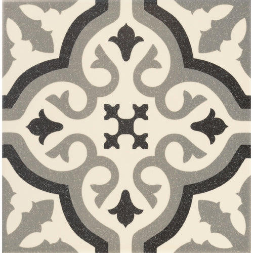Victorian Florentine pattern tile centre piece in white