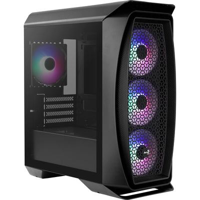 Gabinete Gamer Mini Tower Aero One Mini Frost Preto AEROCOOL - MagazineInnovar