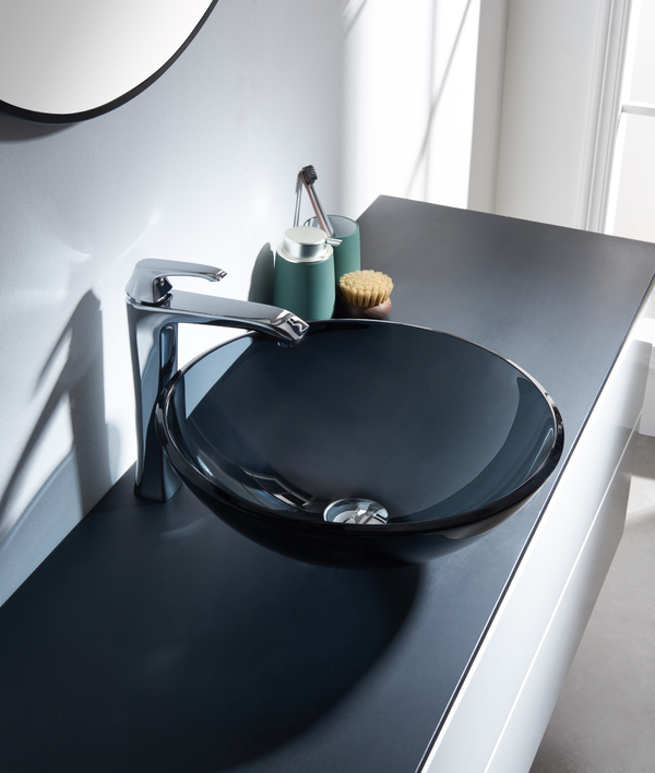 Clear Black Bathroom sink 523087
