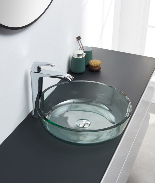 Clear Glass Bathroom Sink 523086