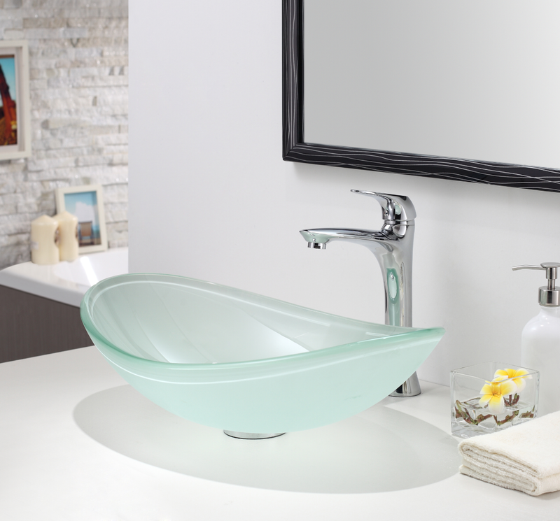 Oval Frostedd Glass Sink