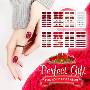 Waterproof Christmas Nail Art Decals-Set For 4