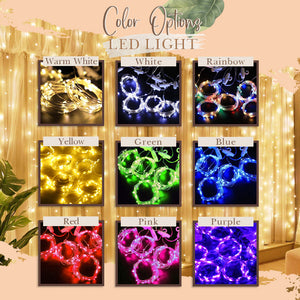 LED Curtain Lights [Big Clearance] - 9.8 x 9.8 ft Curtain of String Lights with Remote