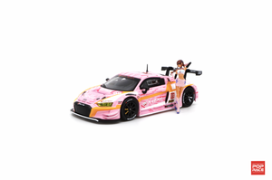 1/64 Audi R8 LMS - EVA RT Production Model Custom Type-08 X Works R8 with Race Queen Figure