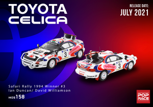 *Pre Order* 1/64 Toyota Celica - Safari Rally 1994 Winner #3