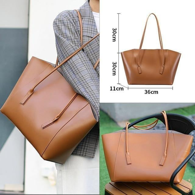 Glamour Stitch 52004022-1 Women Bag 2020 Luxury Vintage Bucket Fashion Shoulder Bag Set Big Crossbody Messenger PU Leather Bags for Women Large Capacity