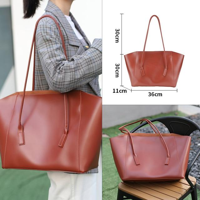 Glamour Stitch 52004022-2 Women Bag 2020 Luxury Vintage Bucket Fashion Shoulder Bag Set Big Crossbody Messenger PU Leather Bags for Women Large Capacity