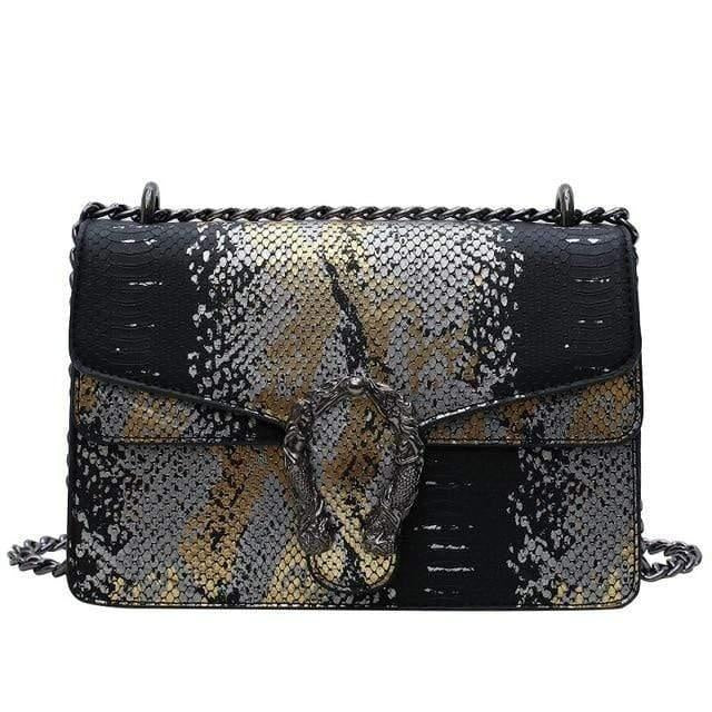 Glamour Stitch Black / 22X8.5X15CM Summer Crossbody Bag