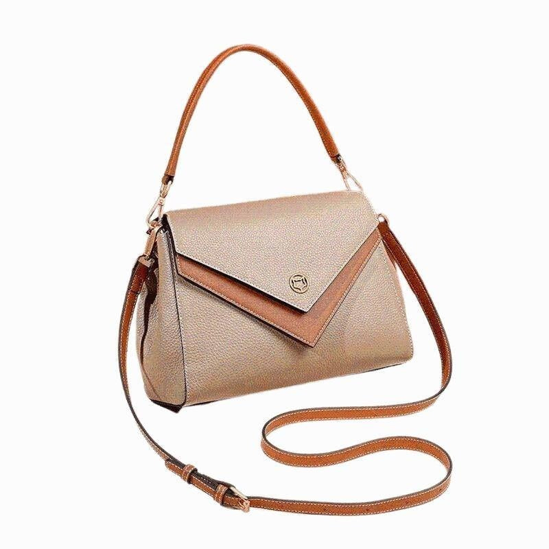 Glamour Stitch Coffee Boston Crossbody Bag