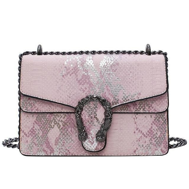 Glamour Stitch Pink / 22X8.5X15CM Summer Crossbody Bag