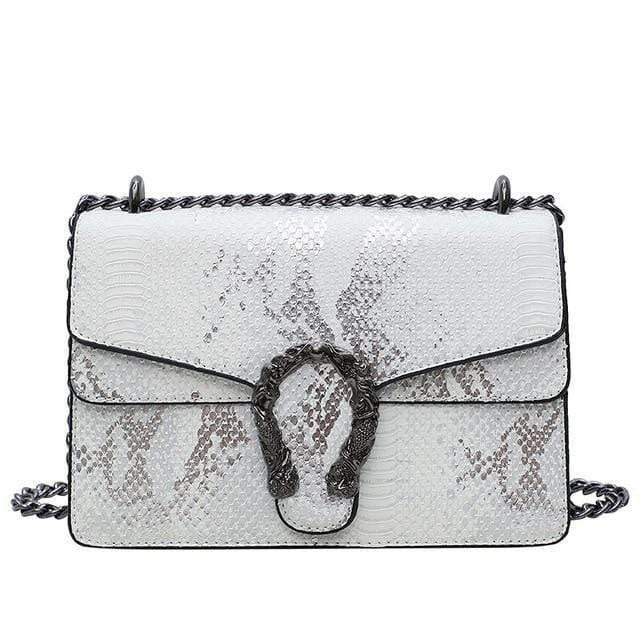 Glamour Stitch White / 22X8.5X15CM Summer Crossbody Bag