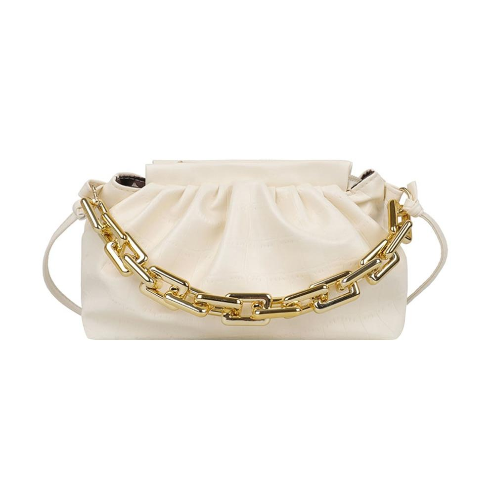 Glamour Stitch White Stone Pattern Mini Bag
