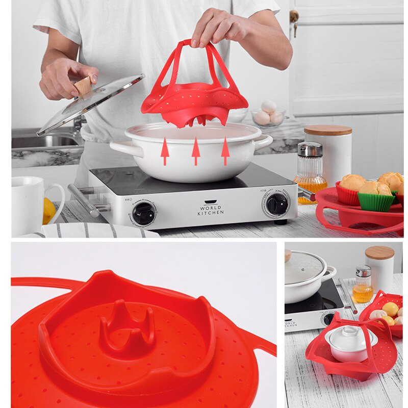 Fold-able steamer basket