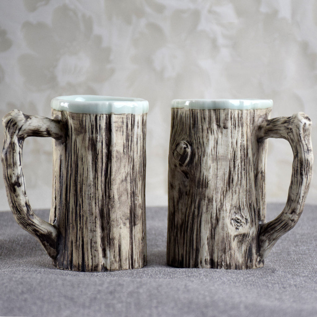 Tree Trunk-Like Mug