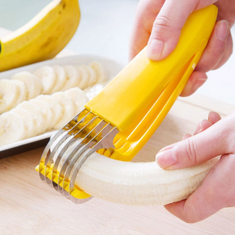 Quick banana slicer