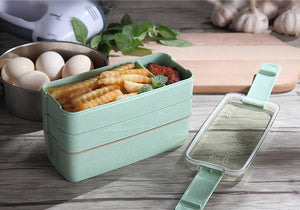Portable 3-Tiers Microwaveable Lunch Box