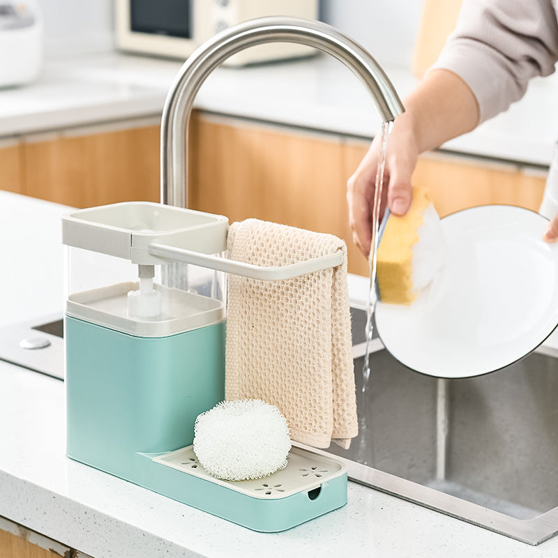 3 in 1 Stylish Soap Dispensor & Rack