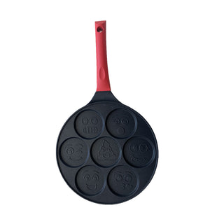 funny Smiley Breakfast Griddle-7 holes