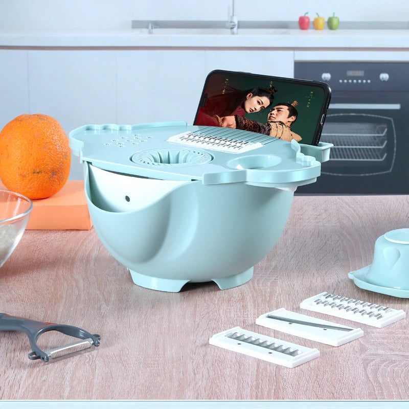 Phone holder vegetable slicer