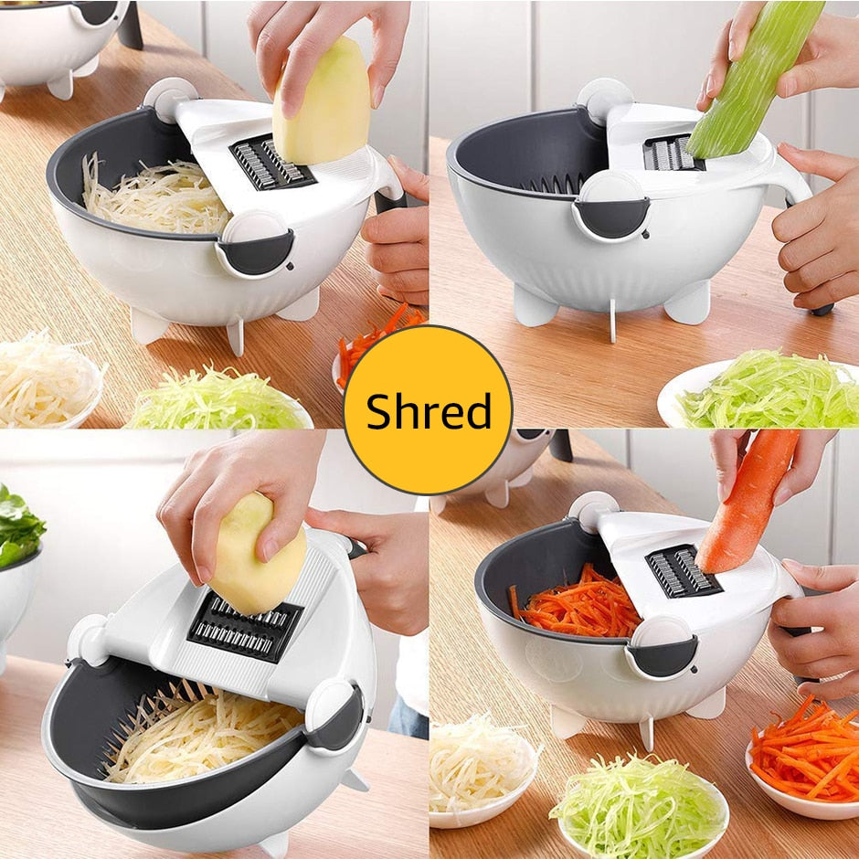Rotary Grater With Drain Basket