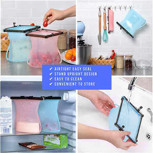 Upgraded Fold-able Silicone Food Storage Bags