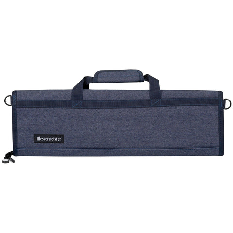 Messermeister 8 Pocket Blue Denim Knife Roll
