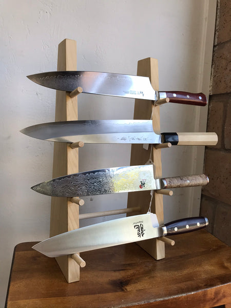PEC Katana-Style 4 Level Wooden Knife Stand