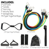 12PCS Set Resistance Bands w/ Handles