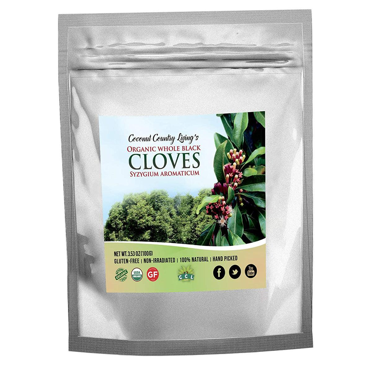 CCL Organic Cloves Whole - Free E-Book of Secrets of Cloves and Gourmet Recipes - USDA - USPS Shipping