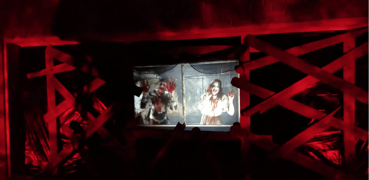 Great Zombie Apocalypse Display with Only 3 Projectors | AtmosFX