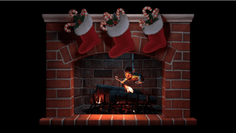 Add Some Mischief to Your Holiday Fireplace — DIY Decoration Editing | AtmosFX