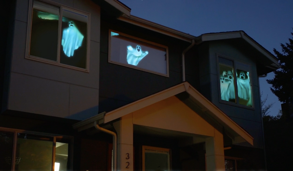 This Allows You To Keep Your Projector Safely Inside While Everyone On The Outside Can Marvel At The Mysterious Goings On Inside Your Home Or Business