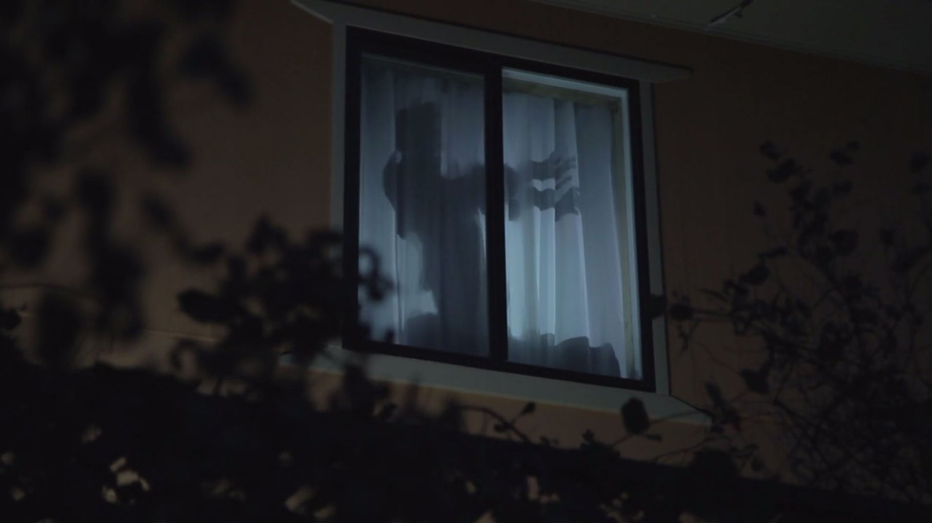 Inside house windows at night -  A Piece Of Atmosgear Window Projection Material Will Provide The Realistic Looking Illusion Of People Or Creatures Wandering Around Inside Your House