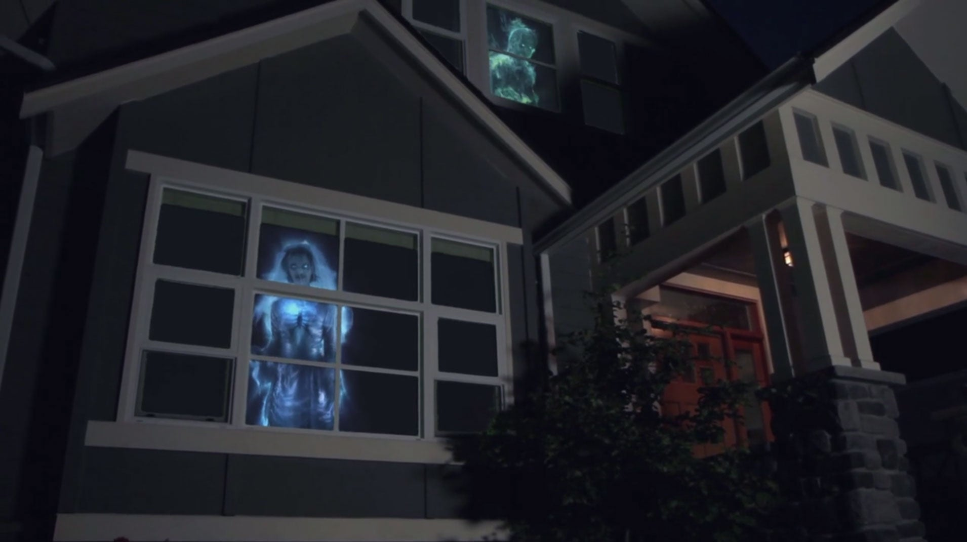 Inside house windows at night - This Allows You To Keep Your Projector Safely Inside While Everyone On The Outside Can Marvel At The Mysterious Goings On Inside Your Home Or Business