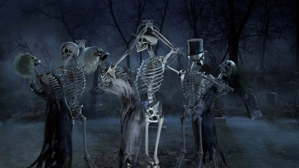 3 pairs of skeletons ball room dancing