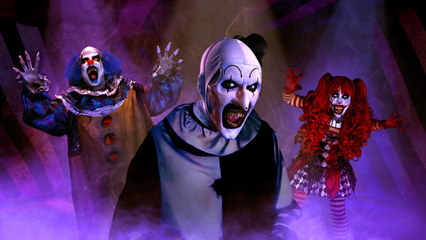 Creepster, Terrifier, and Jester creepy clowns