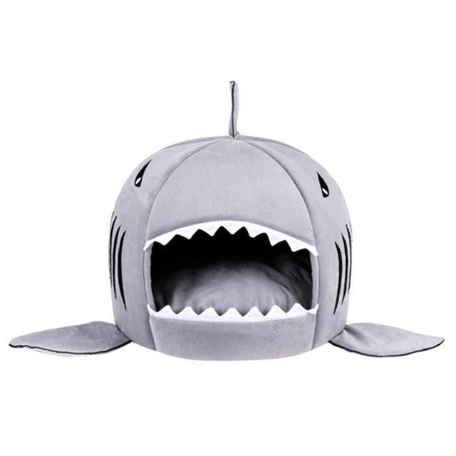 Cat Shark Shape House with Removable Inside Cushion. - giftsforrpets