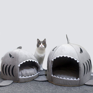 Pet Shark Cave Bed - giftsforrpets