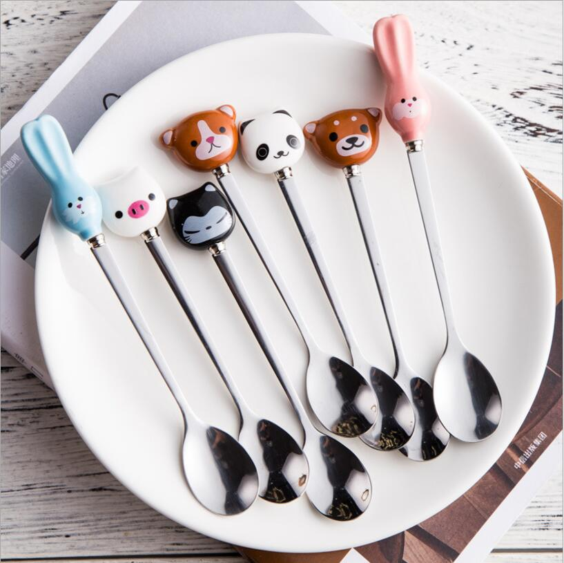 Cute and Unique Cartoon Animals coffee Stirring Spoon - giftsforrpets