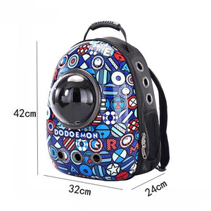 Cat Backpack Window Astronaut Capsule Bag . - giftsforrpets