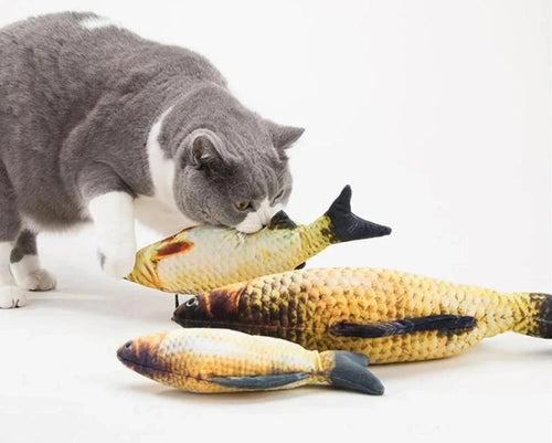 Soft Plush Catnip-Infused Fish Toy - giftsforrpets